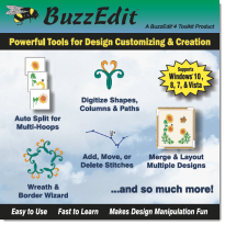 Buzz Tools | BuzzEdit Embroidery Stitch Editor