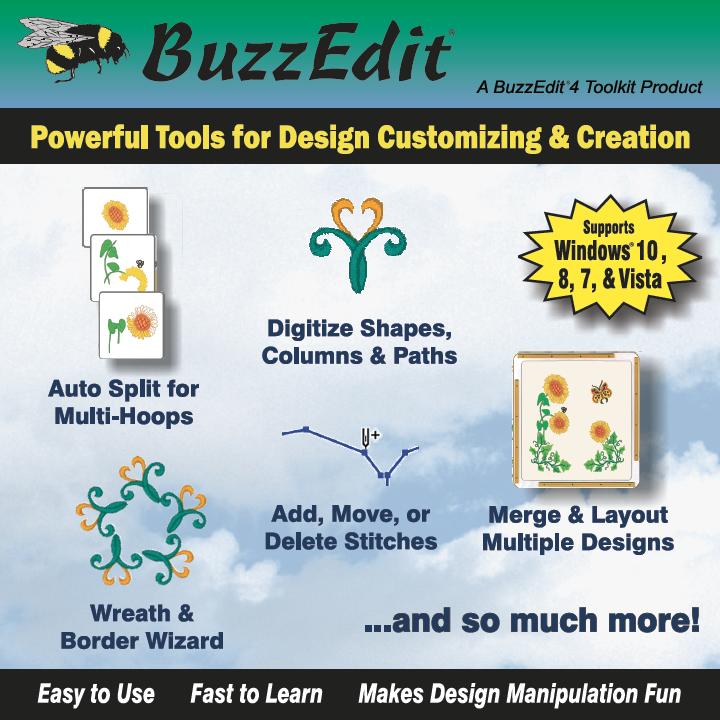 Buzz Tools Buzzedit Embroidery Stitch Editor