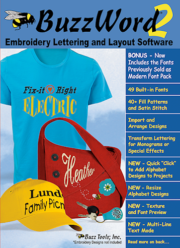 Buzz Tools Buzzword Embroidery Lettering Software